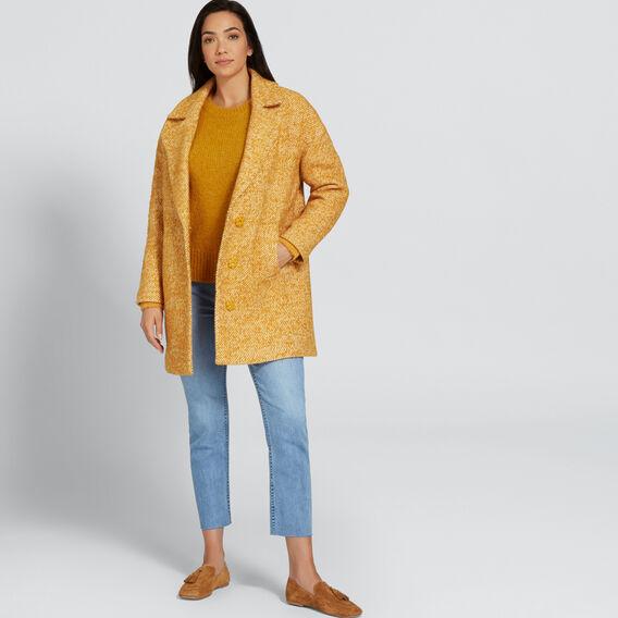 Boucle Coat  GOLDEN MUSTARD  hi-res