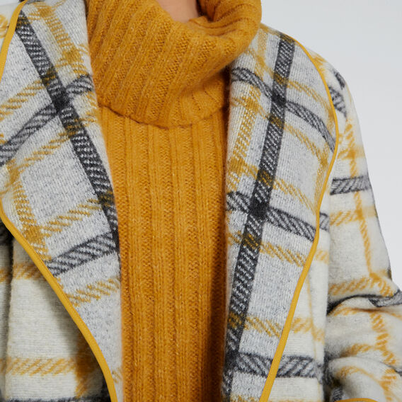 Soft Drape Check Coat  CHECK  hi-res