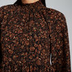 Shirred Floral Dress  FLORAL  hi-res