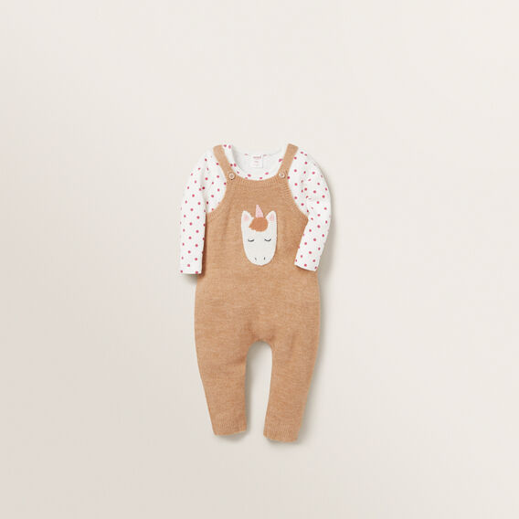 Knitted Overalls  MACAROON  hi-res