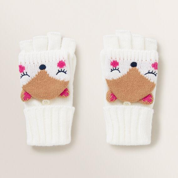 Fox Mitten Gloves  MACAROON  hi-res