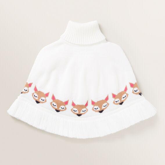 Fox Knit Poncho  MULTI  hi-res