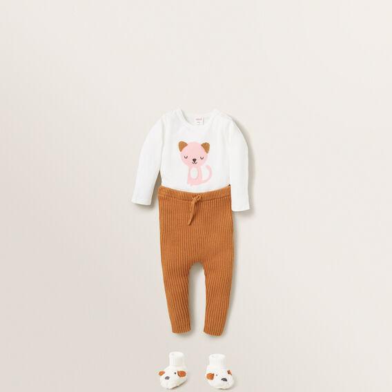 Chenille Cat Bodysuit  CANVAS  hi-res