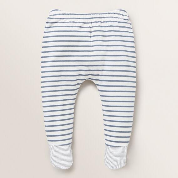Stripe Footed Legging  DENIM BLUE  hi-res