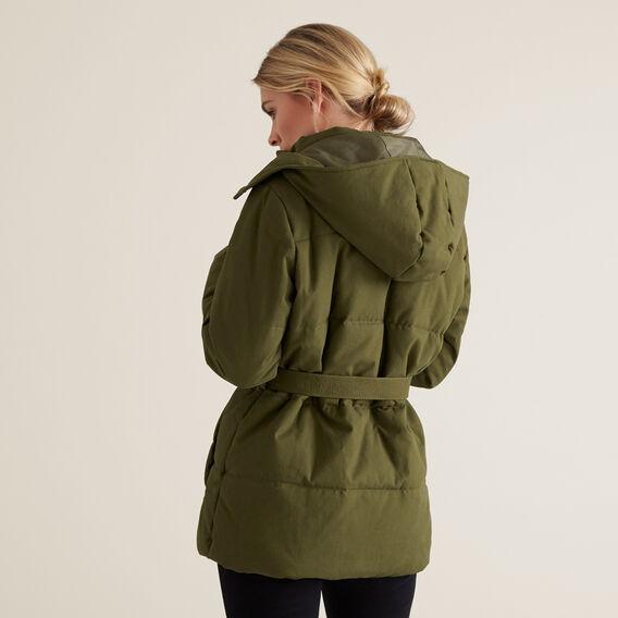 Belted Puffer Jacket  RICH OLIVE  hi-res