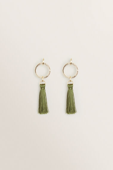 Ring Tassel Earring  RICH OLIVE  hi-res