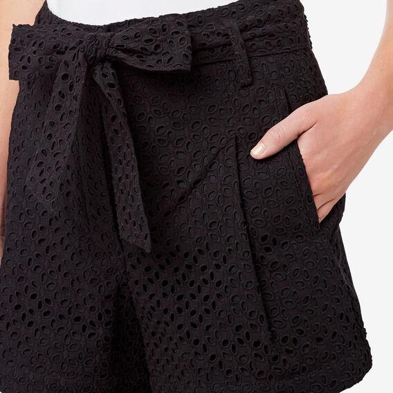 Broderie Short  BLACK  hi-res