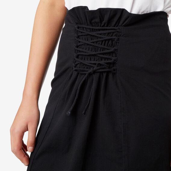 Lace Up Skirt  BLACK  hi-res