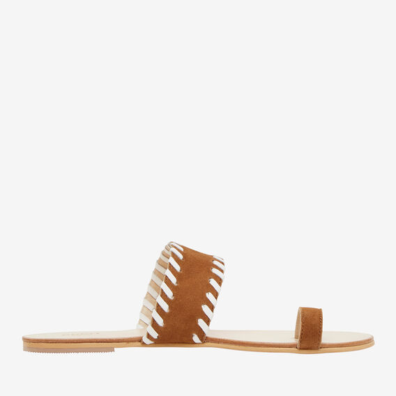 Whipstitch Slide  TAN  hi-res