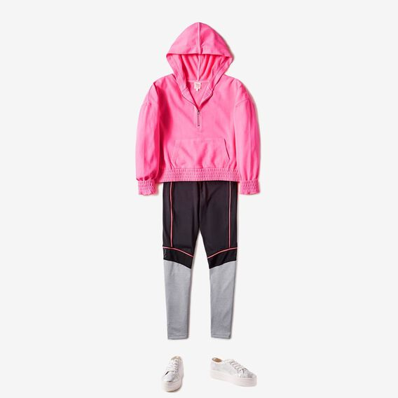 Hooded Windcheater  HOT PINK  hi-res