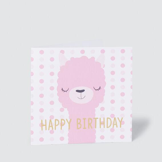 Happy Birthday Llama Card  MULTI  hi-res