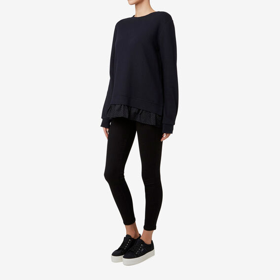 Spot Hem Sweater  DEEP NAVY  hi-res