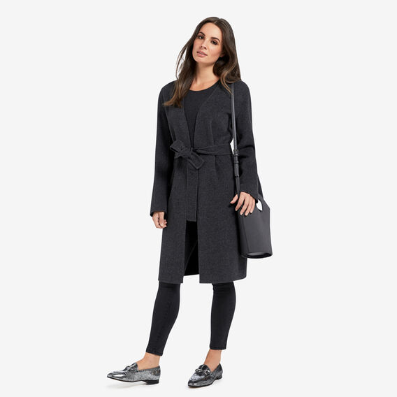 Reversible Longline Jacket  BLACK/ASH MARLE  hi-res