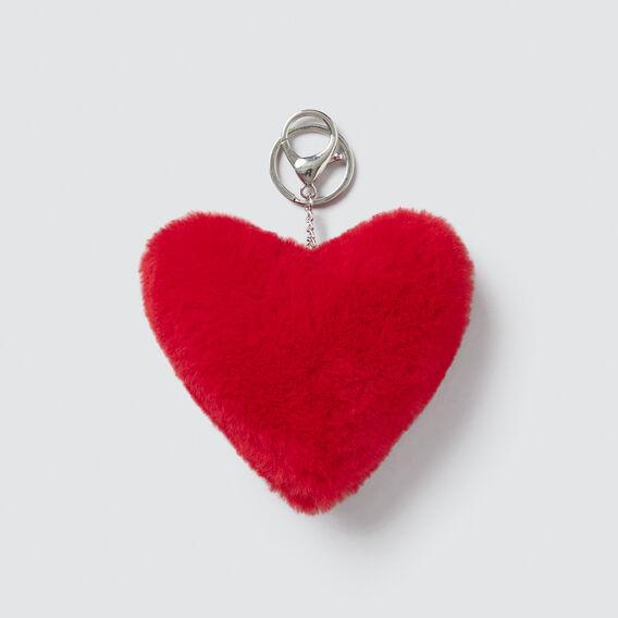 Plush Heart Bag Charm  STRAWBERRY  hi-res