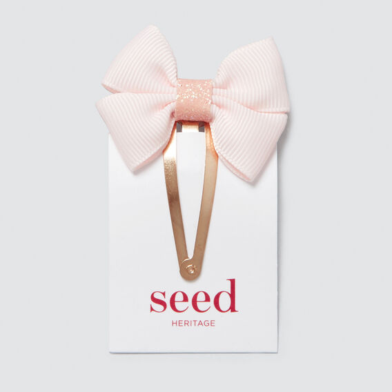 Grosgrain Bow Snap  ICE PINK  hi-res