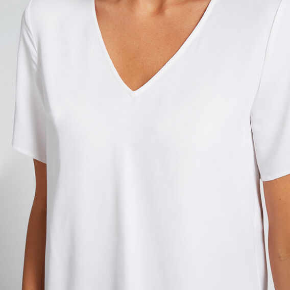 V-Neck Blouse  WHISPER WHITE  hi-res