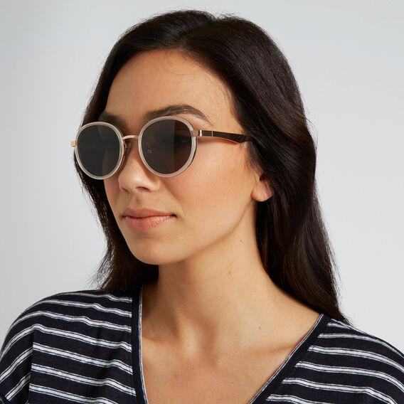 Jo Fashion Round Sunglasses  WHITE/ROSE GOLD  hi-res