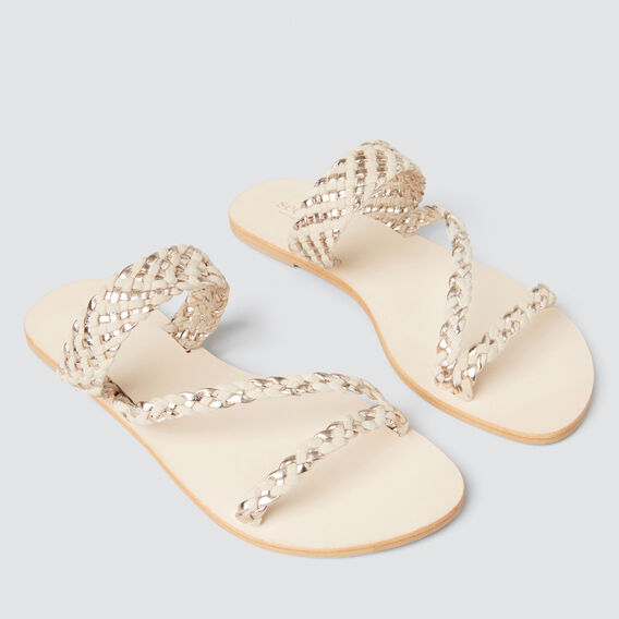 Lily Braided Slide  SAND/ METALLIC  hi-res