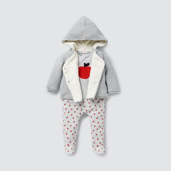 Knitted Sherpa Hoodie  BIRCH MARLE  hi-res