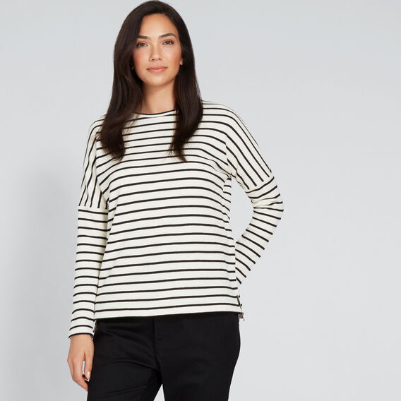 Scoop Neck Top  CLOUD CREAM STRIPE  hi-res
