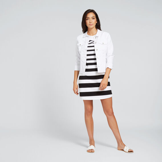 Variegated Stripe Dress  BLACK/WHITE STRIPE  hi-res