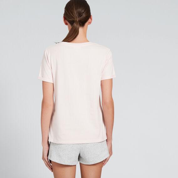Short Sleeve V Neck Tee  PALE PINK  hi-res