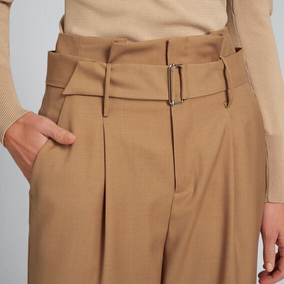 High Waist Belted Pant  SOFT TAN  hi-res