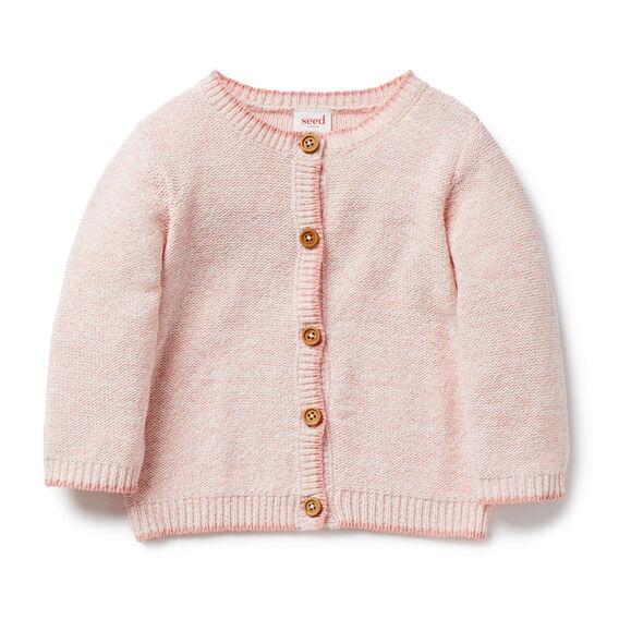 Chunky Knit Cardigan  BALLET PINK  hi-res