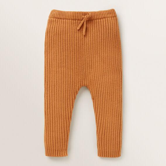 Knitted Rib Pant  NUTMEG  hi-res