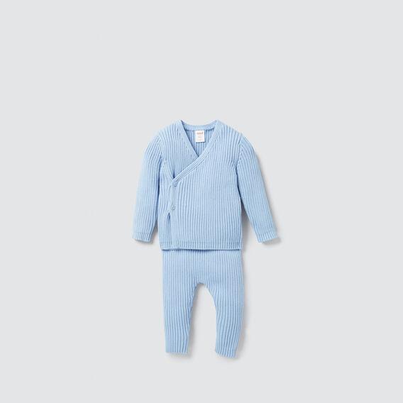 Knitted Rib Pant  DUSK BLUE  hi-res