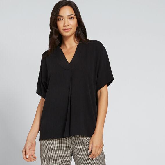 Textured Blouse  BLACK  hi-res