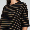 Boxy Drop Shoulder Tee  BLACK/GOLDEN TAN  hi-res