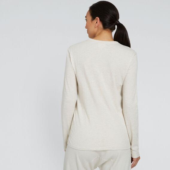 Long Sleeve Slim Basic Tee  OAT MARLE  hi-res