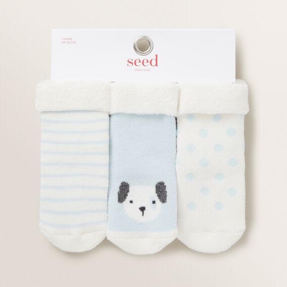 Puppy Cosy Socks  BLUE  hi-res