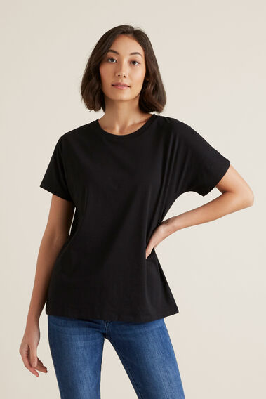 Core Slouchy Tee  BLACK  hi-res