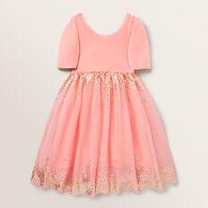 Velvet Tutu Dress  CORAL PINK  hi-res