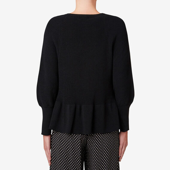 Peplum Hem Knit  BLACK  hi-res