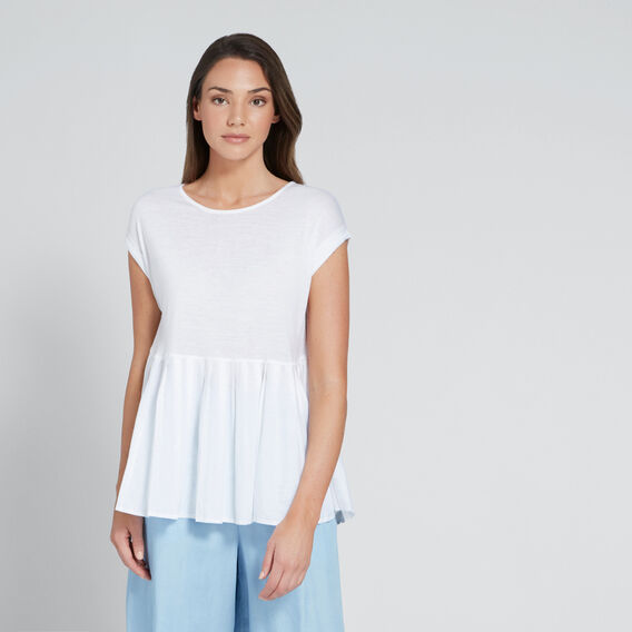 Oversized Tee  WHISPER WHITE  hi-res