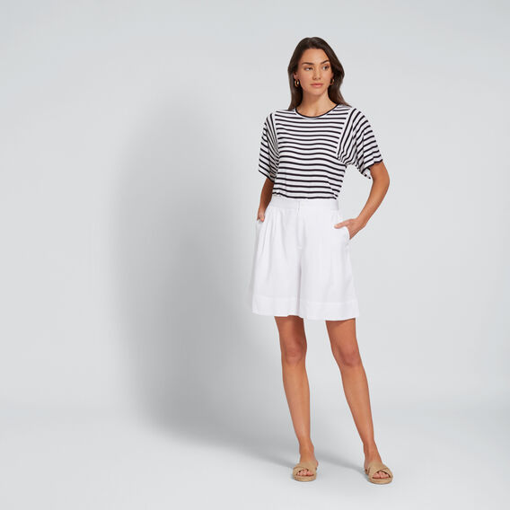 Relaxed Stripey Tee  DEEP NAVY STRIPE  hi-res