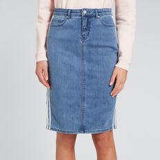 Side Stripe Skirt  TRUE DENIM WASH  hi-res
