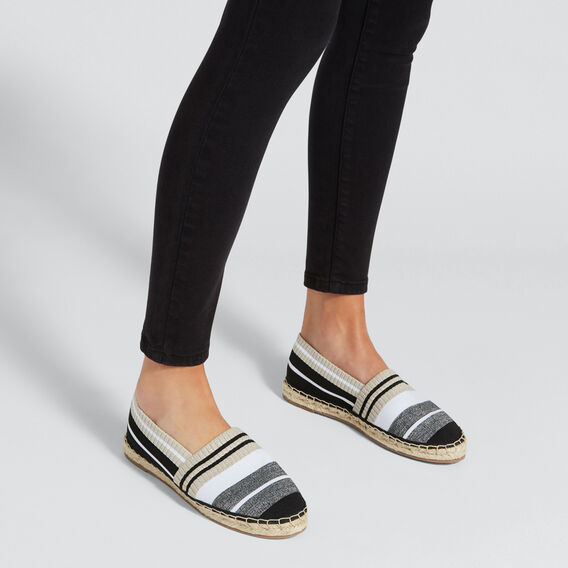 Sasha Stripe Espadrille  CREAM/BLACK  hi-res