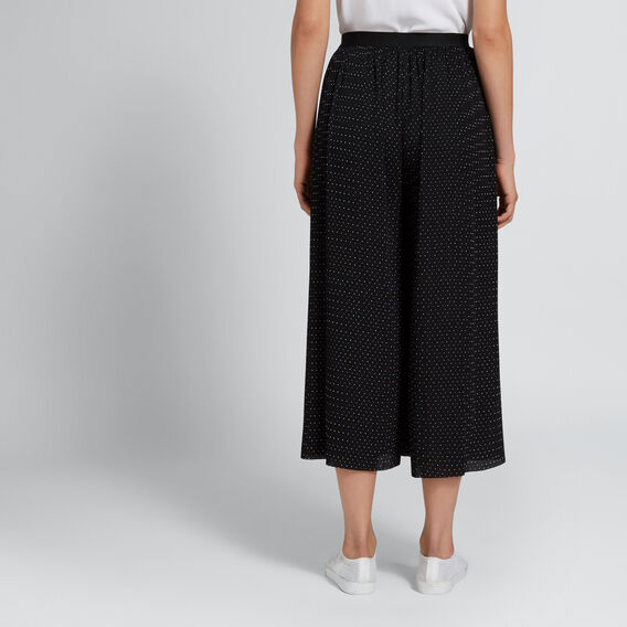 Pleated Spot Pant  BLACK/WHITE SPOT  hi-res