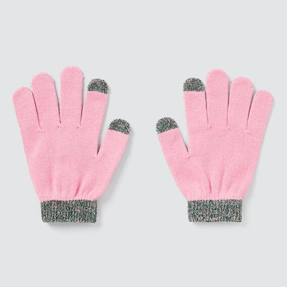 Metallic Trim Gloves  PINK BLUSH  hi-res