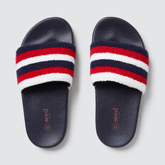 Stripe Terry Slide  STRIPE  hi-res