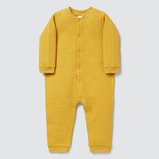 Quilt Wrap Snapsuit  GOLDEN MUSTARD  hi-res