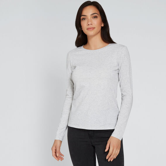 Classic Long Sleeve Top  LIGHT ASH MARLE  hi-res