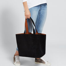 Reversible Tote  BLACK/TAN  hi-res