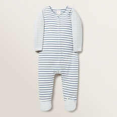 Multi Stripe Zip Suit  DENIM BLUE  hi-res