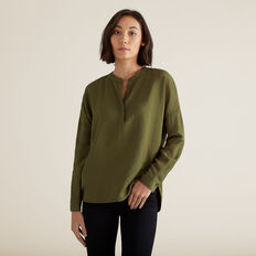 V Neck Textured Shirt  RICH OLIVE  hi-res