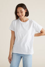Core Slouchy Tee  WHISPER WHITE  hi-res